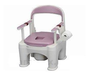 ポータブルトイレ 〈座楽〉ラフィーネ  PN-L30200V 標準タイプ(プラスチック便座)