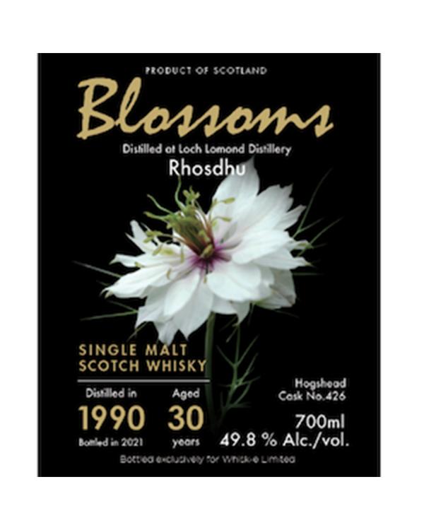 【Blossoms】ロスデュー30年 1990 700ml 49.8%