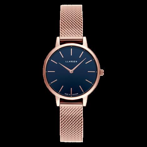 【母の日ギフトに最適・期間限定プライス】CAROLINE (LW46) Rose gold bracelet / Deep ocean blue dial