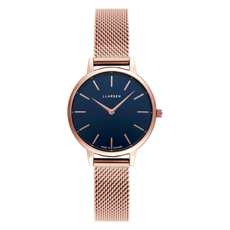 【秋の行楽シーズン到来!期間限定20%OFF】CAROLINE (LW46) Rose gold bracelet / Deep ocean blue dial