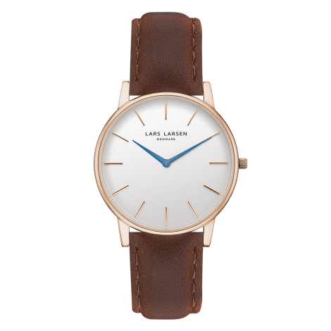 【Winter Sale! 70%OFF】 Oliver (LW47) Rose gold with Brown strap / Blue hands<img class='new_mark_img2' src='https://img.shop-pro.jp/img/new/icons34.gif' style='border:none;display:inline;margin:0px;padding:0px;width:auto;' />