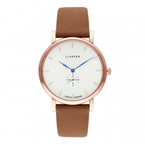 【母の日ギフトに最適・期間限定プライス】JOSEPHINE (LW44) Rose gold with Camel leather strap / White dial with Blue hands