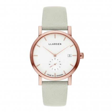 HELENA (LW37) Rose gold with Mint leather strap / White dial