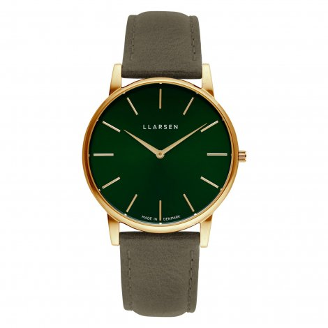 WEB限定モデル  OLIVER (LW47) Gold with Forest leather strap / Forest dial