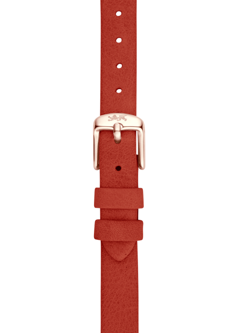 Orange leather strap 12mm