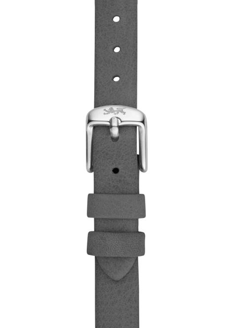 Grey leather strap 18mm