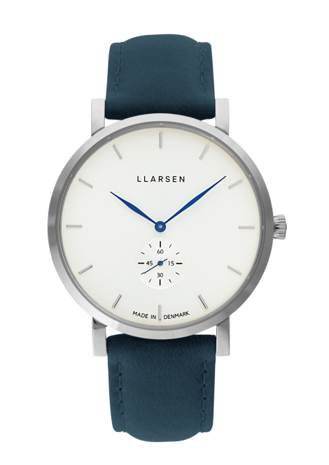 NIKOLAJ (LW43) Stainless with Ocean leather strap / Blue hands<img class='new_mark_img2' src='https://img.shop-pro.jp/img/new/icons60.gif' style='border:none;display:inline;margin:0px;padding:0px;width:auto;' />
