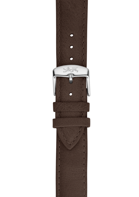 Wood leather strap 20mm
