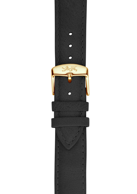 Coal leather strap 20mm