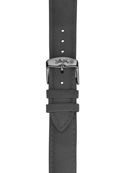 Grey leather strap 20mm