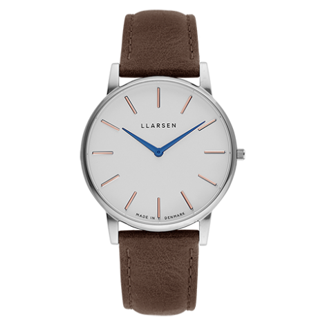 2020AW日本限定モデル OLIVER(LW47)Steel with Wood leather strap / white dial with blue hands