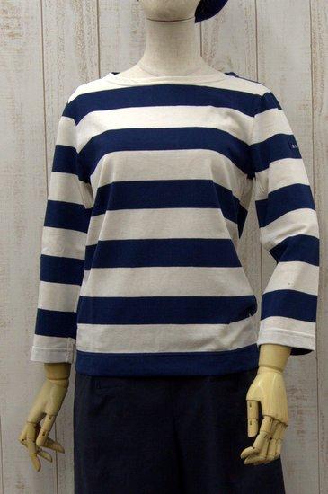 Le minor ルミノア 太ボーダー レディス七分袖 20G サイズ0、1