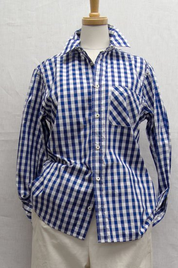 Vent d'ouest par Le minor ルミノア ギンガムチェック レギュラーカラーシャツ
