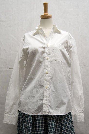 Vent d'ouest par Le minor ルミノア ホワイト レギュラーカラーシャツ