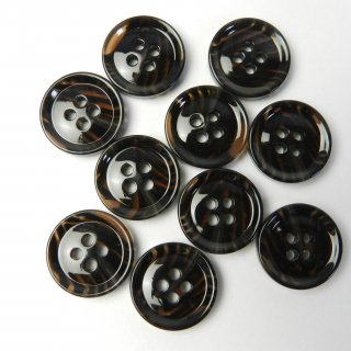 模様入茶色系ボタン/18mm/4穴/コート袖口やカーディガンに最適