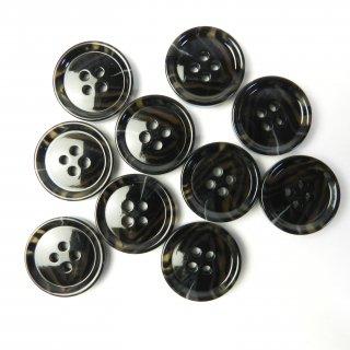 模様入黒色系ボタン/20mm/4穴/ジャケットやスーツに最適