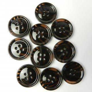 模様入茶色系ボタン/20mm/4穴/ジャケットやスーツに最適