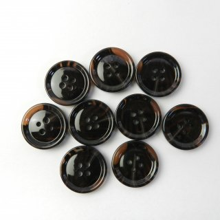 模様入茶色系ボタン/23mm/4穴/コートに最適