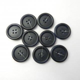 模様入黒色系ボタン/25mm/4穴/コートに最適