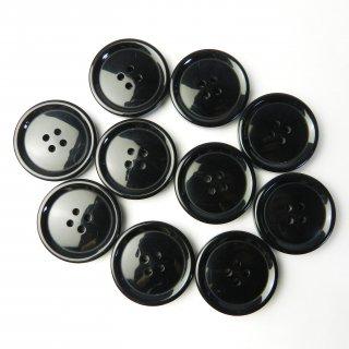 黒色ボタン/28mm/4穴/コートに最適