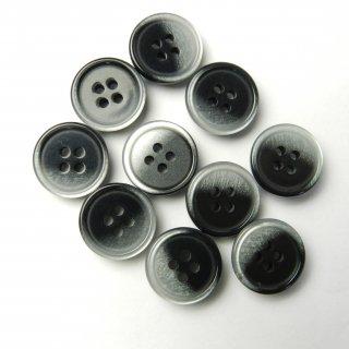 黒色白色グラデーションボタン/14mm/4穴/ジャケット袖口・カーディガンに最適