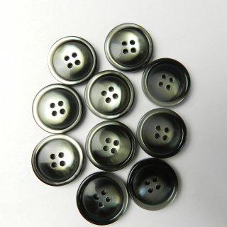 黒色グレー系グラデーションボタン/21mm/4穴/スーツやジャケットに最適