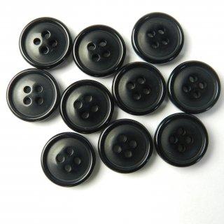 黒色ボタン/15mm/4穴/ジャケット袖口・カーディガンに最適