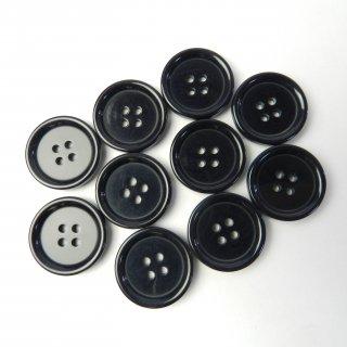 模様入り濃紺系ボタン/23mm/4穴/コートに最適