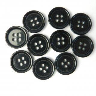 模様入り黒色系ボタン/18mm/4穴/コート袖口・カーディガンに最適