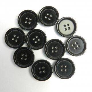 模様入り黒色系ボタン/23mm/4穴/コートに最適