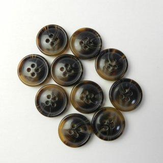 茶色系の水牛調ボタン/18mm/4穴/コート袖口・カーディガンに最適