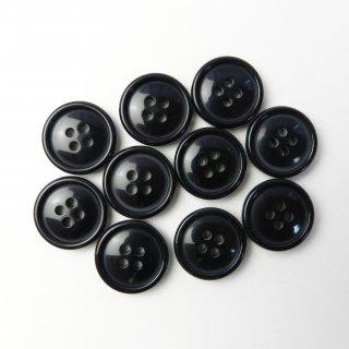 黒色ボタン/18mm/4穴/コート袖口やカーディガンに最適