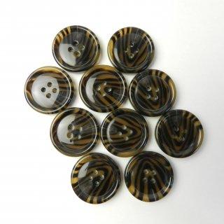 模様入り茶色系ボタン/25mm/4穴/コートに最適