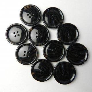 模様入り黒色系ボタン/28mm/4穴/コートに最適