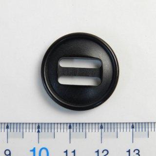 本水牛黒色系パラシュートボタン/25mm/2穴/テープ留め/ミリタリー風カジュアル・アーミー調