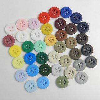[40個入]大量でお得な40色のカラフルボタン詰め合わせ/15mm/4穴/ハンドメイドや編み物・手芸・雑貨に