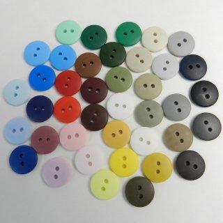 [40個入]大量でお得な40色のカラフルボタン詰め合わせ/15mm/2穴/ハンドメイドや編み物・手芸・雑貨に