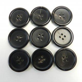 黒色系水牛ボタン/25mm/4穴/コートに最適