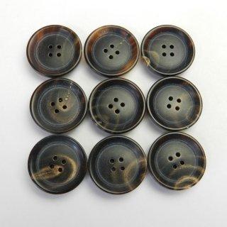 茶色系水牛ボタン/19mm/4穴/カーディガンに最適