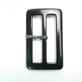 黒色系ピン付バックル/内径50mm/本体素材:プラスチック/ピン素材:メタル系/トレンチコート・スプリングコート・コスプレに最適