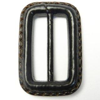 皮革風のこげ茶色系バックル/内径30mm/素材:プラスチック系/コート・ハンドメイド・手芸・コスプレに最適