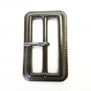 皮革風の茶色系ピン付バックル/内径50mm/本体:プラスチック系/ピン:メタル系/トレンチコート・スプリングコート・コスプレに最適