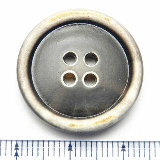 大きいサイズの茶色系水牛調ボタン/25mm/4穴/コートのフロントボタンに最適