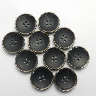 水牛調の黒色系組み合わせボタン/23mm/4穴/コートに最適