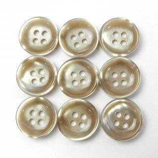 光沢のあるベージュ系ボタン/15mm/4穴/ジャケット袖口・カーディガンに最適