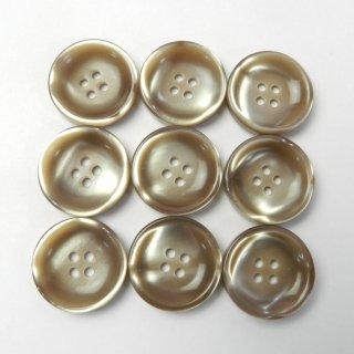 光沢のあるベージュ系ボタン/20mm/4穴/スーツやジャケットに最適