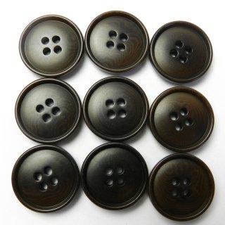 こげ茶色系ナットボタン/20mm/4穴/スーツやジャケットに最適