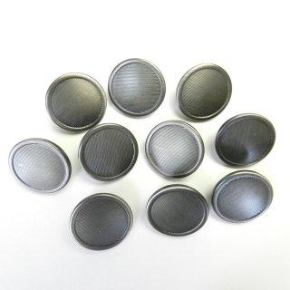 シルバーブラック系メタルボタン/20mm/足つき/ハンドメイド雑貨やジャケットに最適