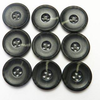 黒色系水牛調ボタン/20mm/4穴/スーツやジャケットに最適