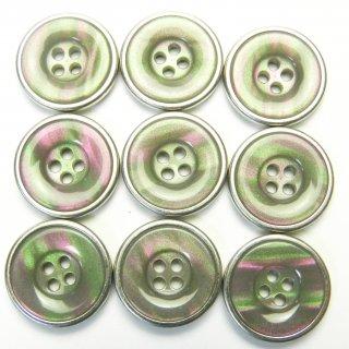 貝調のグレー系組み合わせボタン/18mm/4穴/コート袖口・カーディガンに最適